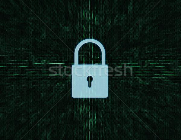 Güvenlik kilitlemek dijital ekran web yazılım Stok fotoğraf © Mazirama