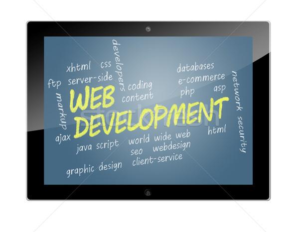 タブレット ウェブ 開発 実例 ストックフォト © Mazirama