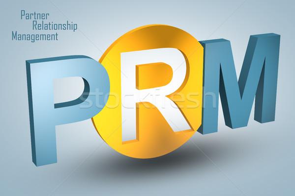 Socio relación gestión siglas 3d ilustración Foto stock © Mazirama
