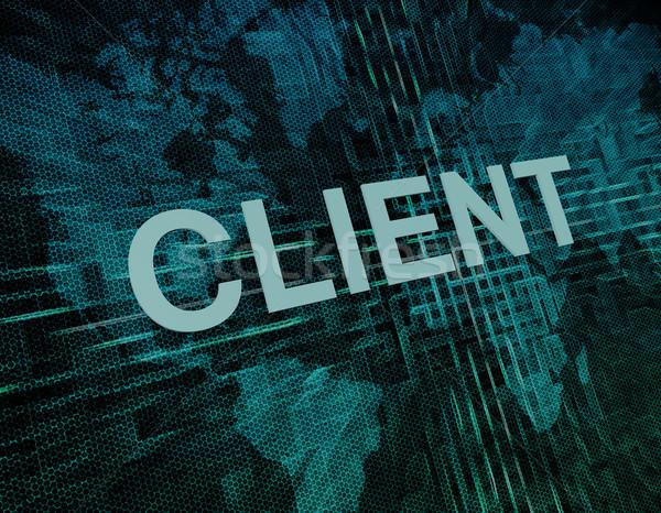 クライアント 文字 緑 デジタル 世界地図 ウェブ ストックフォト © Mazirama