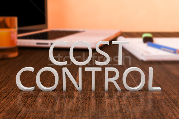 Custo controlar cartas secretária computador portátil Foto stock © Mazirama