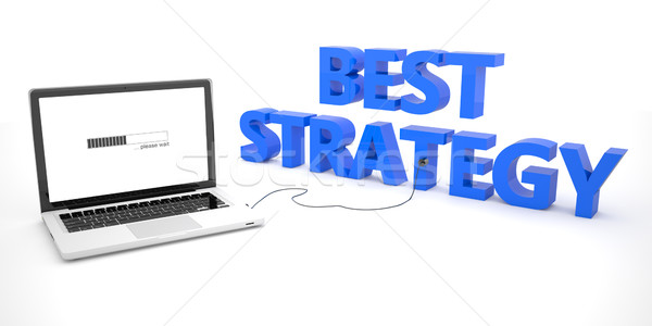 Best strategie laptop notebook computer woord Stockfoto © Mazirama