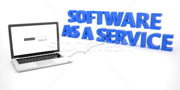 программное службе ноутбука ноутбук компьютер слово Сток-фото © Mazirama