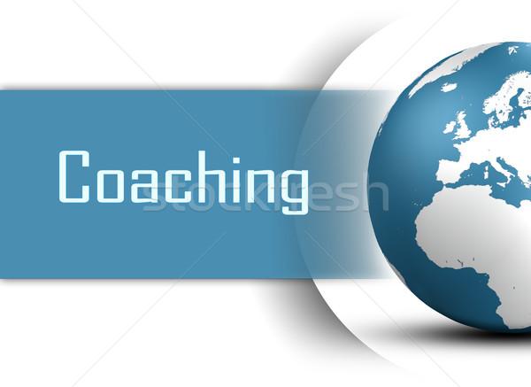 コーチング 世界中 白 ビジネス テクスチャ 学校 ストックフォト © Mazirama
