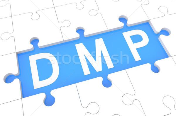 Deuda gestión plan rompecabezas 3d ilustración Foto stock © Mazirama