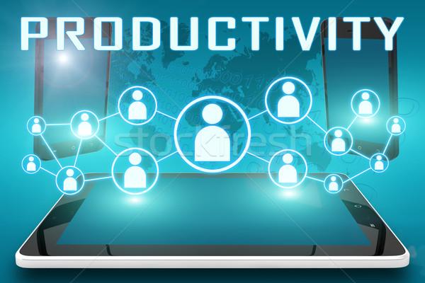 Foto stock: Productividad · texto · ilustración · social · iconos