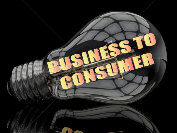 Foto stock: Negócio · consumidor · lâmpada · preto · texto · 3d · render