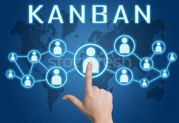 Kanban text concept Stock photo © Mazirama