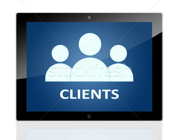 Tablet Clients Stock photo © Mazirama