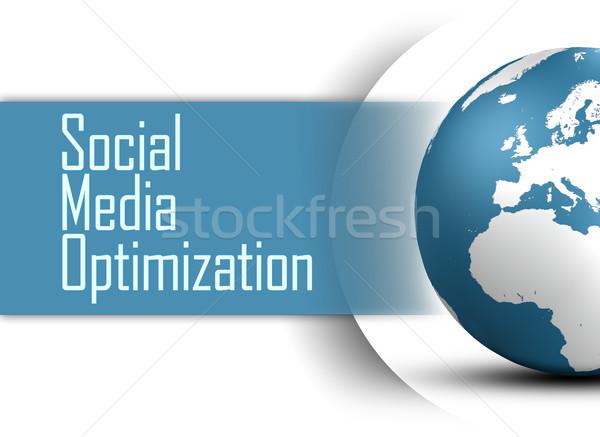 Medios de comunicación social optimización mundo blanco negocios Internet Foto stock © Mazirama