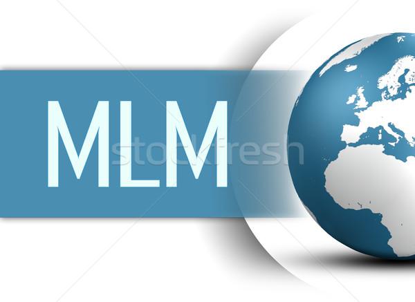 Nivel comercialización mundo blanco negocios Internet Foto stock © Mazirama