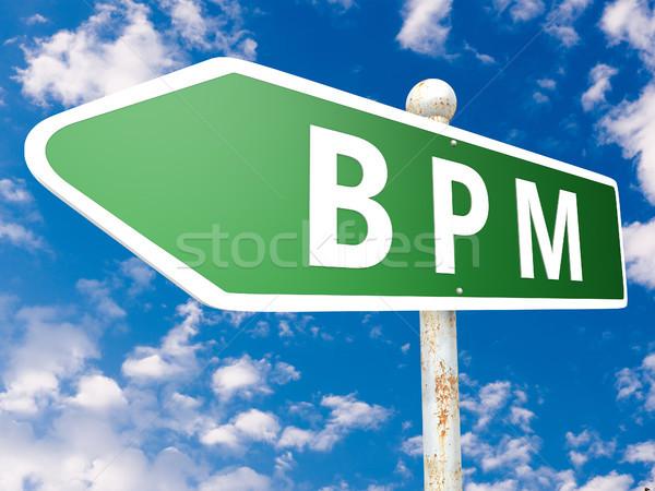 Iş süreç yönetim bpm sokak işareti örnek Stok fotoğraf © Mazirama
