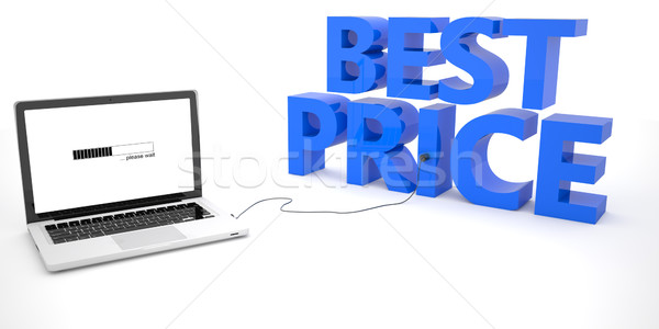 Legjobb ár laptop számítógép szó fehér 3d render illusztráció Stock fotó © Mazirama