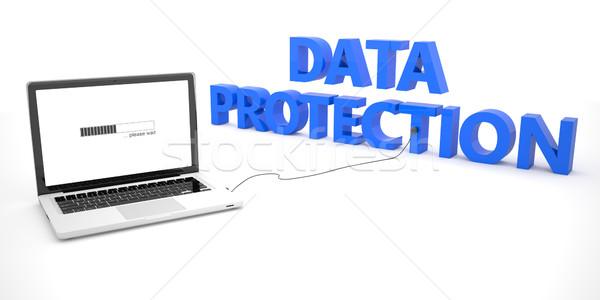 データ保護 ノートパソコン ノートブック コンピュータ 言葉 白 ストックフォト © Mazirama