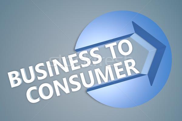 Negócio consumidor texto 3d render ilustração seta Foto stock © Mazirama