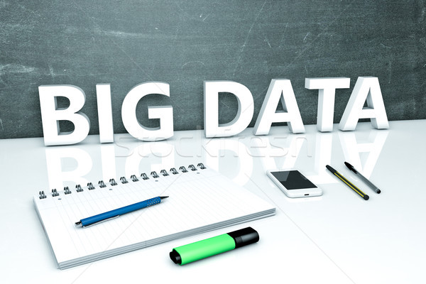 Stockfoto: Groot · gegevens · tekst · schoolbord · notebook · pennen
