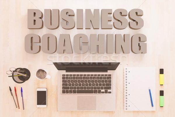 ビジネス コーチング 文字 ノートブック コンピュータ スマートフォン ストックフォト © Mazirama