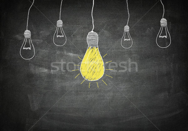 Blackboard idea concept Stock photo © Mazirama