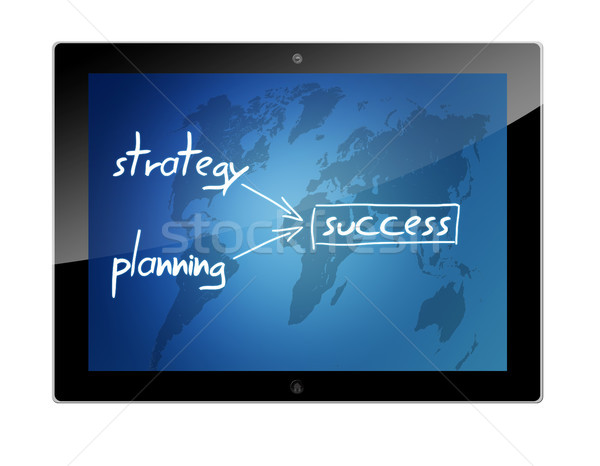 Tablet success concept Stock photo © Mazirama