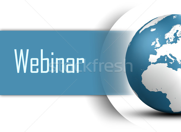 Webinar wereldbol witte business student technologie Stockfoto © Mazirama