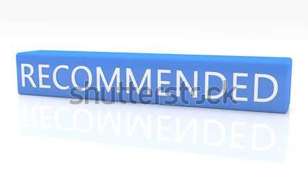 3d render azul caixa texto branco reflexão Foto stock © Mazirama