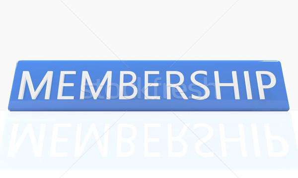 Afiliación 3d azul cuadro texto blanco Foto stock © Mazirama