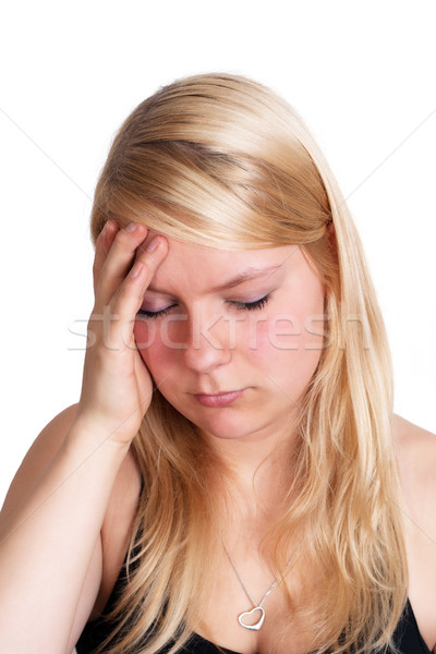 Headache woman Stock photo © Mazirama