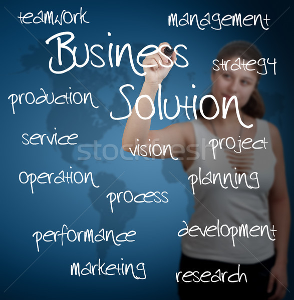 business solution concept Stock photo © Mazirama