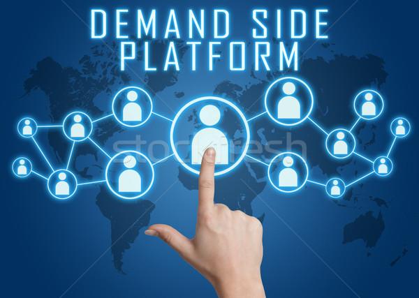 Nachfrage Seite Plattform Hand sozialen Stock foto © Mazirama