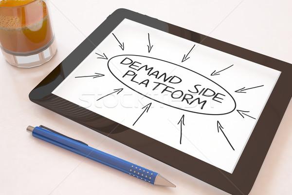 Demanda lado texto móviles Foto stock © Mazirama