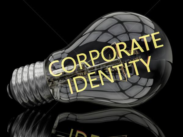 Entreprise identité ampoule noir texte rendu 3d Photo stock © Mazirama