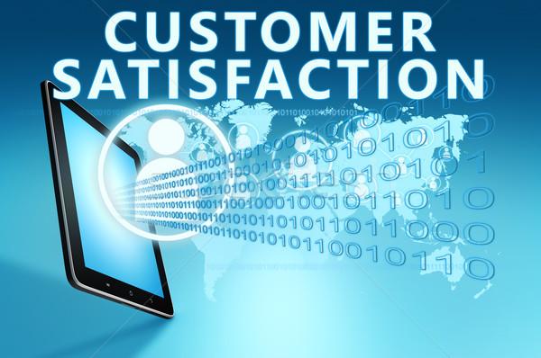 Satisfação do cliente ilustração azul negócio mercado Foto stock © Mazirama