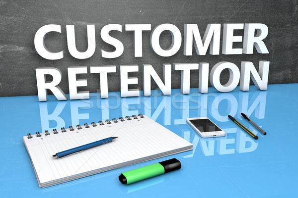 Customer Retention text concept Stock photo © Mazirama