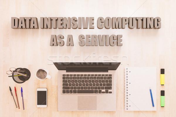 Adat intenzív számítástechnika szolgáltatás szöveg notebook Stock fotó © Mazirama