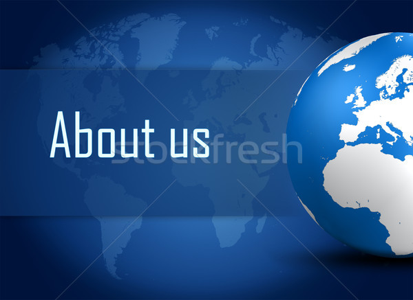 о компании мира синий Мир карта компьютер служба Сток-фото © Mazirama