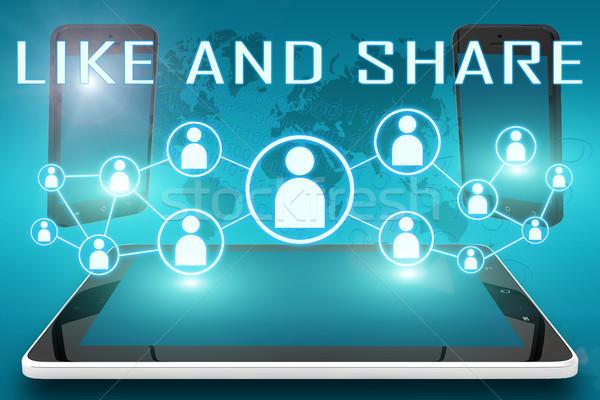 Like and Share Stock photo © Mazirama