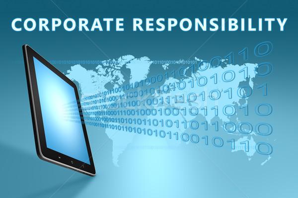 Corporate responsabilità illustrazione blu mondo Foto d'archivio © Mazirama