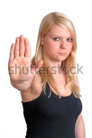 указывая женщину молодые что-то Сток-фото © Mazirama