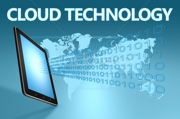 雲 技術 実例 青 地図 ストックフォト © Mazirama