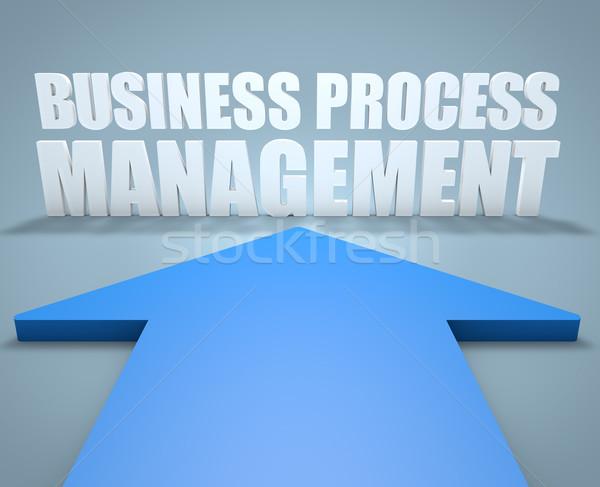 Iş süreç yönetim 3d render mavi ok Stok fotoğraf © Mazirama