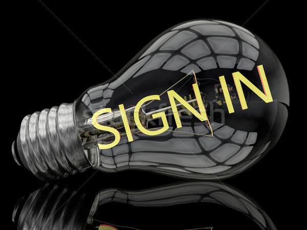 Sign in Stock photo © Mazirama