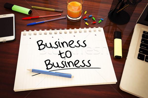 ストックフォト: ビジネス · 文字 · ノートブック · デスク · 3dのレンダリング
