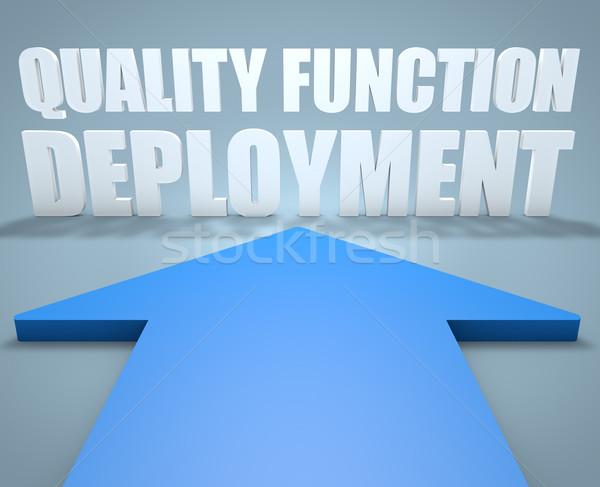Minőség funkció 3d render kék nyíl mutat Stock fotó © Mazirama