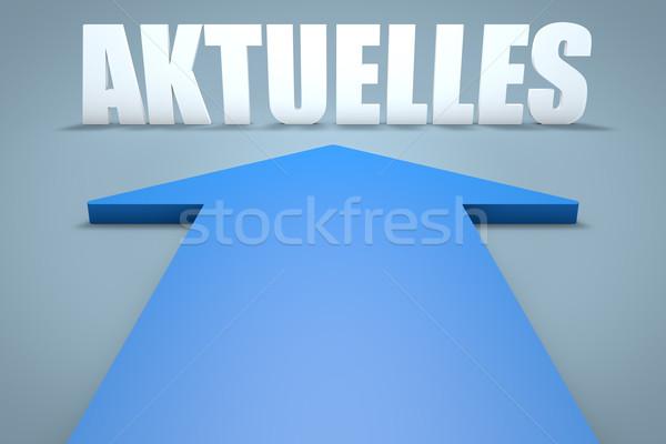 Mot nouvelles courant rendu 3d bleu flèche Photo stock © Mazirama