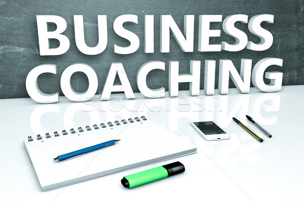 Business Coaching text concept Stock photo © Mazirama