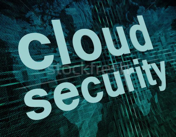 Bulut güvenlik teknoloji ağ sözler Stok fotoğraf © Mazirama