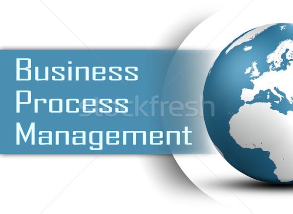 Business processo gestione mondo bianco dati Foto d'archivio © Mazirama