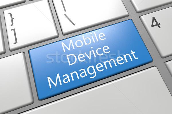 携帯 管理 キーボード 3dのレンダリング 実例 ストックフォト © Mazirama