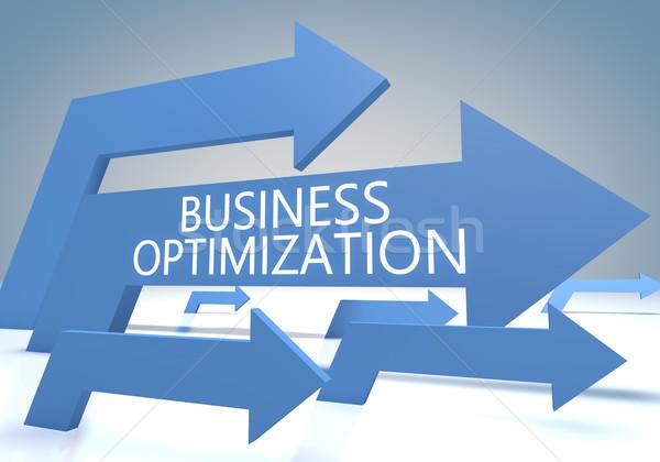 Negocios optimización hacer azul flechas comercialización Foto stock © Mazirama