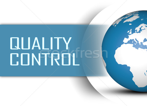 Controle de qualidade globo branco cliente conceito verificar Foto stock © Mazirama
